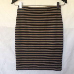 Club Mónaco striped skirt